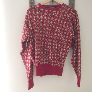 VINTAGE POLO RALPH LAUREN/Red and Green Sweater